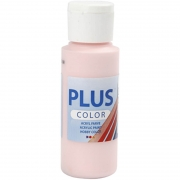 Plus Color hobbyfärg, soft pink, 60 ml/ 1 flaska