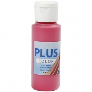 Plus Color hobbyfärg, primärröd, 60 ml/ 1 flaska
