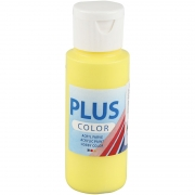 Plus Color hobbyfärg, primärgul, 60 ml/ 1 flaska