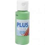 Plus Color hobbyfärg, bright green, 60 ml/ 1 flaska
