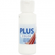 Plus Color hobbyfärg, vit, 60 ml/ 1 flaska