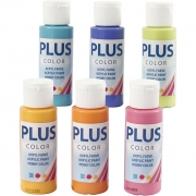Plus Color hobbyfärg, colorful, 6x60 ml/ 1 förp.