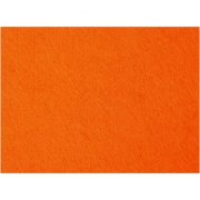 Hobbyfilt, orange, 42x60 cm, tjocklek 3 mm, 1 ark