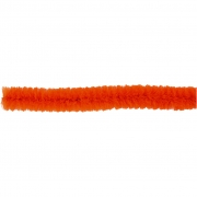 Piprensare, tjocklek 6 mm, L: 30 cm, orange, 50st.