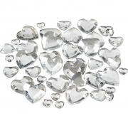Rhinestones, stl. 6+10+14 mm, 252 mix., silver