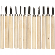 Wood Carving set, 12mix.