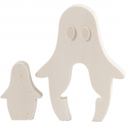 Spöke, H: 6+11,5 cm, B: 4+9 cm, 1 set, plywood