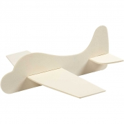 Flygplan, stl. 21,5x25,5 cm, tjocklek 2 mm, plywood, 20set