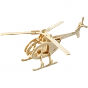 3D-pussel, Helikopter, stl. 26,5x14x26 cm, plywood, 1st.