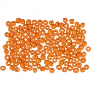 Rocaipärlor, stl. 8/0 , dia. 3 mm, orange, 25g, hålstl. 0,6-1,0 mm