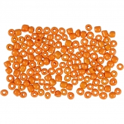 Rocaipärlor, stl. 8/0 , dia. 3 mm, orange, 500g, hålstl. 0,6-1,0 mm