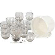 Ljusgelé i runda glas, 2925 ml, 1 set