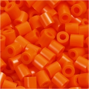 Rörpärlor, stl. medium mm, stl. 5x5 mm, orange klar (32233), 6000st., hålstl. 2,5 mm