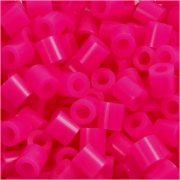 Rörpärlor, stl. medium mm, stl. 5x5 mm, cerise (32258), 6000st., hålstl. 2,5 mm