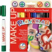 Playcolor Make up, mixade färger, basic, 6x5g