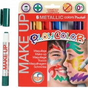 Playcolor Make up, mixade färger, metallic, 6x5g