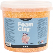 Foam Clay®, orange, glitter, 560g