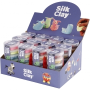 Silk Clay® , neonfärger, standard farver, 12set
