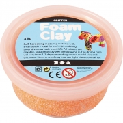 Foam Clay® , orange, glitter, 35g