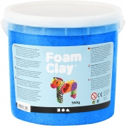 Foam Clay®, blå, metallic, 560g