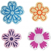 Fuse® - Stämpel/embossing set, stl. 5-6,5 cm, Blommor, 4mix.