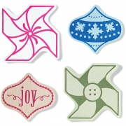 Fuse® - Stämpel/embossing set, stl. 10x12  cm, Ornaments, 1st.
