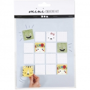 Mini kreativt set, memory, 1set