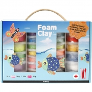 Foam Clay® presentask, mixade färger, 1set