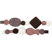 Luxury Bead Assortment, dia. 6-37 mm, hålstl. 2 mm, gml. Rosa harmoni , 1set