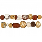 Luxury Bead Assortment, dia. 9-19 mm, hålstl. 3-4 mm, gul harmoni, 1set