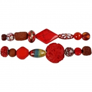 Luxury Bead Assortment, röd harmoni , 1set