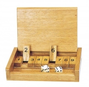 Shut the box brädspel med tärning